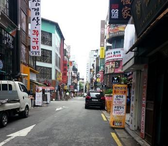 Vacances en Corée une rue de Séoul lors du voyage routedelacoree.com
