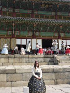 Charlène en Corée