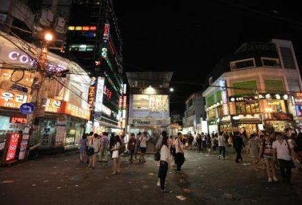 sejour-circuit-voyage-corée-hongik-university-street-nuit